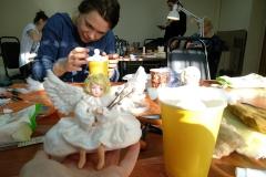мастер-класс ватная игрушка ангел
